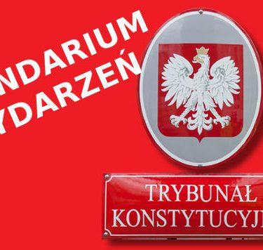 Trybunał Konstytucyjny - kalendarium