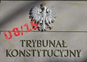 Co stwierdził Trybunał, umarzając postępowanie w sprawie uchwał Sejmu (Sprawa U 8/15)?
