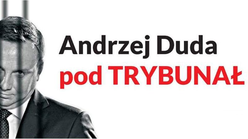 Andrzej Duda pod Trybunał - pikieta 6 sierpnia