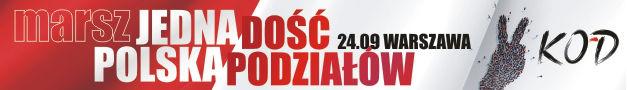 Marsz Jedna Polska - Dość Podziałów Warszawa 24.09.2016