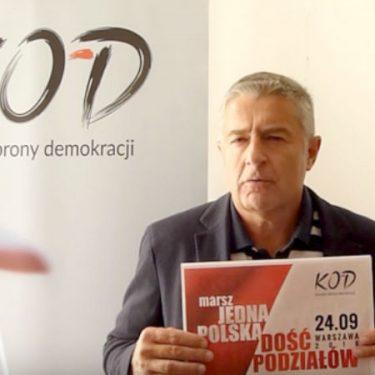 """Marsz """"Jedna Polska - dość podziałów"""" - zaprasza Władysław Frasyniuk"""