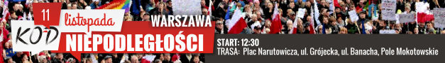 Marsz KOD Niepodległości 11.11.2016 Warszawa